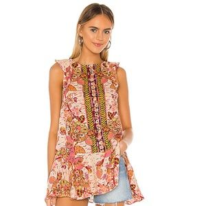 New Free People Peplum Floral Top